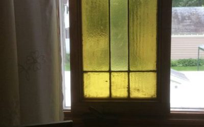 2 Stained glass windows (yellow) SOLD