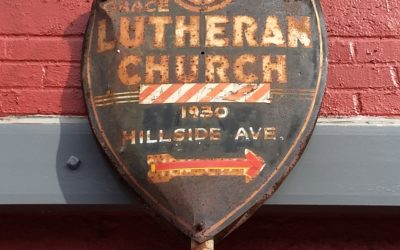 Metal Street Sign — Grace Lutheran Church