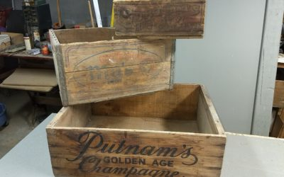 Vintage Wooden Advertising Crates