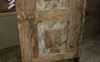 Antique wood cabinet. (Narrow)