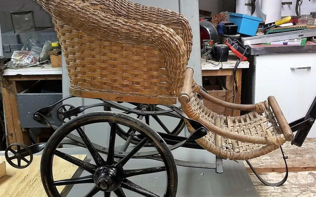 Antique Victorian Baby Carriage Pull Cart